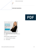 Top 50 Insurance Interview Questions