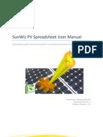 SunWiz PV Spreadsheet User Manual v1.3