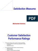 Customer Satisfaction Measures