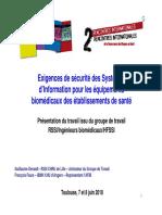 Exigences de Sécurité Des Systèmes Dinformation - 2010