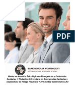 Master en Atención Psicológica en Emergencias y Catástrofes Sanitarias + Titulación Universitaria en Emergencias Sanitarias y Dispositivos de Riesgo Previsible + 20 Créditos tradicionales LRU