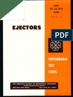 ASME PTC 24-1976(R1982) Steam ejector