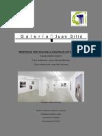 Memoria de Prácticas en Una Galería de Arte