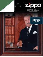2007/2008 Zippo LIghter Choice Catalog