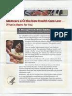 Sebelius Medicare Brochure