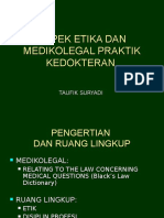 Aspek Medikolegal Praktek Kedokteran 2013