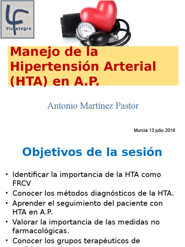 Manejo de la hipertensión arterial en el Centro de Salud..