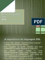 Banco de Dados II - Aula 02 - SQL - IFMA - Barra do Corda