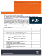 Service Station Operators Checklist