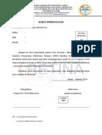 Surat Pernyataan Maba Pkk 2016