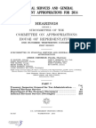 HOUSE HEARING, 113TH CONGRESS - FINANCIAL SERVICES AND GENERAL GOVERNMENT APPROPRIATIONS FOR 2014