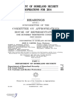 HOUSE HEARING, 113TH CONGRESS - DEPARTMENT OF HOMELAND SECURITY APPROPRIATIONS FOR 2014