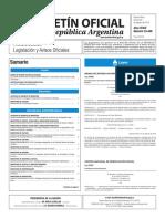 Boletín Oficial de la República Argentina, Número 33.448. 26 de agosto de 2016