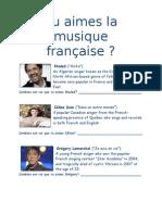 Tu aimes la musique française