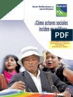 ¿Cómo Actores Sociales Inciden en Políticas Públicas¿ ASOCAM_Ruben Garnica