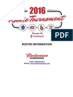 2016 Rookie Tournament - Roster Information