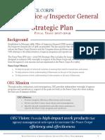 Peace Corps OIG Strategic Plan FY 17-19