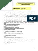 Conversion dConversion De PuntajesConversion De Puntajese Puntajes