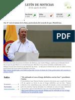 Boletín de noticias KLR 26AGO2016