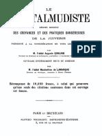 Le Juif Talmudiste, par l'abbé Auguste Rohling