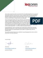 leocomm reference letter