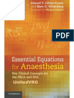 Essential Equations for Anaesthesia