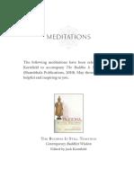 Buddha is Still Teaching Meditations