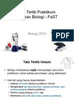 Tata Tertib Praktikum Biologi 2016