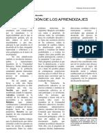 PLANIFICACIÓN de Los Aprendizajes Articulo