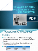 Calorific Value of Fuel Using Junker s Gas Calorimeter
