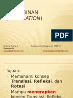 Pengubinan Transformasi XII IPA