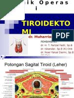 Tehnik Operasi Tiroidektomi