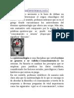 DEFINICIÓN DE EPISTEMOLOGÍA