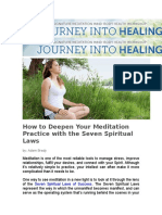 How to Deepen Your Meditation Practice With the Seven Spiritual Laws