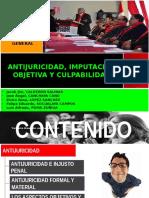 EXPOSICIÓN FINAL D° PENAL - IMPUTACIÓN OBJETIVA, ANTIJURICIDAD Y CULPABILIDAD