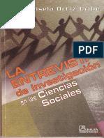 La Entrevista de Investigacion en Las Ciencias Sociales