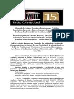 Publicação - Revista - Edital 13 e 14 - Academia Brasileira de Direito Constitucional