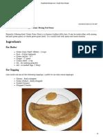 Pessarattu Recipes