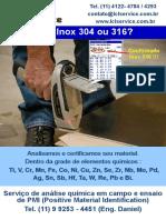 Análise Composição Química de Metais e Inspeção de PMI