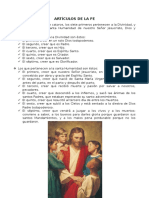 Artículos de La Fe
