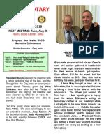 MORAGA ROTARY Newsletter - August 23, 20163 2016