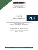 El catálogo de subasta de la Aduana.