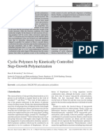 Cyclic Polymers by Kinetically Controlled Step Growth Polymerization