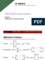 Primer on Linear Algebra