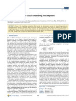An Evaluation of the Usual Simplifying Assumptions