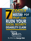 Sink Law South Carolina Social Security Disability Guide