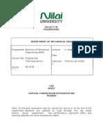 EE3278 - Lab Sheet (Vapour Compression Refrigeration).docx