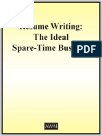 3. Resume Writing - The Ideal Spare-Time Business
