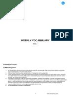 Weekly Vocabulary 1