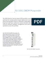 PR1602018219EN 1830 PSS 500G Muxponder Card Datasheet